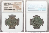 PAMPHYLIA. Side. Gallienus (AD 253-268). AE 10-assaria (29mm, 1h). NGC Choice VF. ΑΥΤO ΚΑΙ ΠΟΥ ΛΙ ЄΓΝ ΓΑΛΛΙΗΝΟC CЄ, radiate, draped and cuirassed bust...