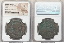 CILICIA. Adana. Plautilla (AD 202-205). AE (38mm, 1h). NGC Good, countermark. ΦOYΛOYIAN ΠΛAYTIΛΛAN CЄBACTHN, draped bust of Plautilla right, hair weav...