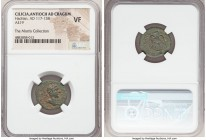 CILICIA. Antiochia as Cragum. Hadrian (AD 117-138). AE (19mm, 6h). NGC VF. ΑV ΚΑΙ ΤΡΑΙΑΝΟС ΑΔΡΙΑΝΟС, laureate bust of Hadrian right / ΑΝΤΙΟΧЄω-Ν ΠΑΡΑΛ...