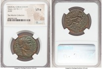 CILICIA. Coracesium. Trajan (AD 98-117). AE (30mm, 7h). NGC VF S. AYTON-PYOYA TPAIANOC, laureate head of Trajan right / KOPAKHC-IwTwN, Zeus seated lef...