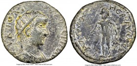CILICIA. Lamus. Valerian I (AD 253-260). AE (25mm, 7h). NGC Choice VF. AV K ΠO ΛI-OVAΛЄPIANO, radiate, draped bust of Valerian I right, seen from fron...