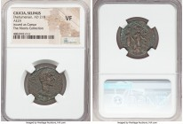 CILICIA. Selinus-Trajanopolis. Diadumenian, as Caesar (AD 218). AE (24mm, 6h). NGC VF. ANT-ΔIAΔ..., bare head of Diadumenian right / TPAIAN-O-CЄΛIN TH...