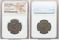 CILICIA. Syedra. Salonina (AD 254-268). AE 11-assaria (26mm, 6h). NGC Choice Fine. KOPNHΛIA-CAΛΩWNINA-CEB, diademed, draped bust of Salonina right, se...
