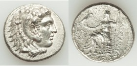MACEDONIAN KINGDOM. Alexander III the Great (336-323 BC). AR tetradrachm (27mm, 16.35 gm, 5h). Choice XF. Late lifetime-early posthumous issue of 'Sid...