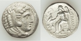 MACEDONIAN KINGDOM. Alexander III the Great (336-323 BC). AR tetradrachm (30mm, 16.27 mm, 8h). About XF. Early posthumous issue of 'Amphipolis', by An...