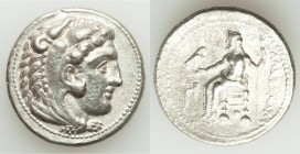 MACEDONIAN KINGDOM. Alexander III the Great (336-323 BC). AR tetradrachm (28mm, 16.89 gm, 9h). XF. Lifetime issue of Tarsus, ca. 327-323 BC. Head of H...