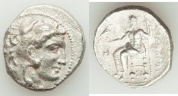 MACEDONIAN KINGDOM. Alexander III the Great (336-323 BC). AR tetradrachm (26mm, 16.69 gm, 12h). Choice VF, porosity. Lifetime issue of Sidon, under Me...