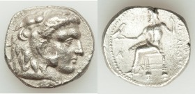 MACEDONIAN KINGDOM. Alexander III the Great (336-323 BC). AR tetradrachm (25mm, 16.52 gm, 11h). VF. Late lifetime-early posthumous issue of Aradus, ca...