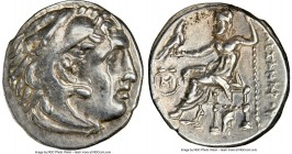 MACEDONIAN KINGDOM. Alexander III the Great (336-323 BC). AR drachm (18mm, 1h). NGC AU. Early posthumous issue of Abydus, ca. 310-297 BC. Head of Hera...
