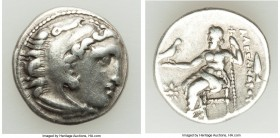 MACEDONIAN KINGDOM. Alexander III the Great (336-323 BC). AR drachm (17mm, 3.99 gm, 11h). VF. Early posthumous issue of 'Colophon', ca. 322-317 BC. He...