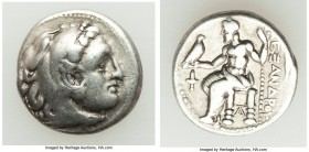 MACEDONIAN KINGDOM. Alexander III the Great (336-323 BC). AR drachm (16mm, 4.16 gm, 2h). About VF. Late lifetime-early posthumous issue of Sardes, ca....