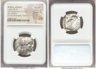 ATTICA. Athens. Ca. 440-404 BC. AR tetradrachm (25mm, 17.19 gm, 6h). NGC Choice AU 4/5 - 4/5. Mid-mass coinage issue. Head of Athena right, wearing cr...