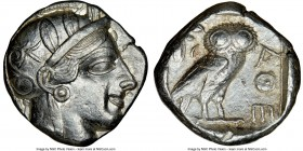 ATTICA. Athens. Ca. 440-404 BC. AR tetradrachm (23mm, 17.18 gm, 9h). NGC Choice XF 4/5 - 3/5. Mid-mass coinage issue. Head of Athena right, wearing cr...