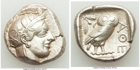 ATTICA. Athens. Ca. 440-404 BC. AR tetradrachm (25mm, 17.23 gm, 9h). Choice XF. Mid-mass coinage issue. Head of Athena right, wearing crested Attic he...