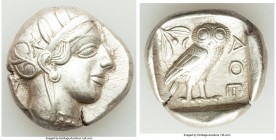 ATTICA. Athens. Ca. 440-404 BC. AR tetradrachm (25mm, 17.07 gm, 11h). Choice XF. Mid-mass coinage issue. Head of Athena right, wearing crested Attic h...