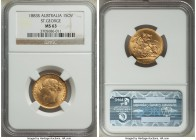 "Victoria gold ""St. George"" Sovereign 1883-S MS63 NGC, Sydney mint, KM7. The single highest graded example of this date at NGC, a choice Mint State sel..."