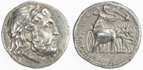 SELEUKID KINGDOM: Seleukos I Nikator, 312-280 BC, AR tetradrachm (17.13g), Seleukeia on the Tigris, CS-130.10b, laureate head of Zeus right // Athena ...