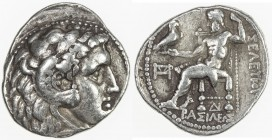 SELEUKID KINGDOM: Seleukos I Nikator, 312-280 BC, AR tetradrachm (17.11g), Seleukeia on the Tigris, SC-117c; Newell, ESM-4, in the type of Alexander I...
