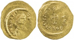 BYZANTINE EMPIRE: Heraclius, 610-641, AV tremissis (1.46g), Constantinople, Sear-787, struck 613-641, diademed, draped and cuirassed bust right, DN hR...