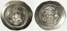 BYZANTINE EMPIRE: Michael VII Doukas, 1071-1078, AV histamenon nomisma (4.41g), Constantinople, S-1868, scyphate planchet, bust of Christ facing, wear...