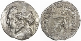 ELYMAIS: Kamnaskires III & Queen Anzaze, ca. 82-72 BC, AR tetradrachm (14.59g), ND, Van't Haaff-7.1, jugate draped bust of Kamnaskires, diademed, and ...