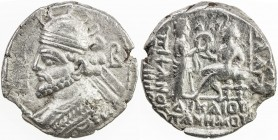 PARTHIAN KINGDOM: Vologases III, AD 105-147, BI tetradrachm (10.98g), Seleukeia-on-Tigris, SE434, Sell-79.10, struck in the month of Panemos (June 123...
