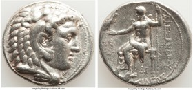 MACEDONIAN KINGDOM. Alexander III the Great (336-323 BC). AR tetradrachm (27mm, 17.09 gm, 12h). VF. Late lifetime-early posthumous issue of 'Side', ca...
