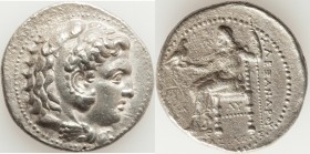 MACEDONIAN KINGDOM. Alexander III the Great (336-323 BC). AR tetradrachm (28mm, 16.43 gm, 3h). Choice XF, porosity, graffiti. Early posthumous issue o...