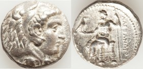 MACEDONIAN KINGDOM. Alexander III the Great (336-323 BC). AR tetradrachm (25mm, 16.86 gm, 11h). Choice VF. Early posthumous issue of Sidon, dated Civi...