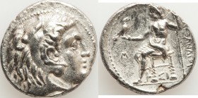 MACEDONIAN KINGDOM. Alexander III the Great (336-323 BC). AR tetradrachm (26mm, 16.84 gm, 12h). Choice XF. Early posthumous issue of Sidon, dated Civi...