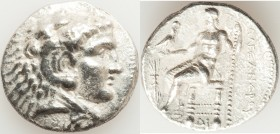 MACEDONIAN KINGDOM. Alexander III the Great (336-323 BC). AR tetradrachm (27mm, 16.71 gm, 12h). XF. Posthumous issue of Memphis or Alexandria, Egypt, ...
