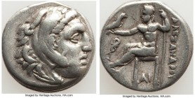 MACEDONIAN KINGDOM. Alexander III the Great (336-323 BC). AR drachm (17mm, 4.13 gm, 12h). VF. Early posthumous issues of Lampsacus, under Philip III A...