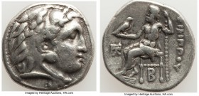MACEDONIAN KINGDOM. Philip III Arrhidaeus (323-317 BC). AR drachm (17mm, 4.13 gm, 12h). VF. Colophon, ca. 323-319 BC. Head of Heracles right, wearing ...