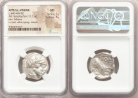 ATTICA. Athens. Ca. 440-404 BC. AR tetradrachm (24mm, 17.23 gm, 10h). NGC MS 3/5 - 4/5. Mid-mass coinage issue. Head of Athena right, wearing crested ...