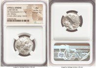 ATTICA. Athens. Ca. 440-404 BC. AR tetradrachm (23mm, 17.17 gm, 4h). NGC AU 5/5 - 4/5. Mid-mass coinage issue. Head of Athena right, wearing crested A...