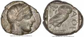ATTICA. Athens. Ca. 440-404 BC. AR tetradrachm (25mm, 17.19 gm, 5h). NGC XF 5/5 - 4/5. Mid-mass coinage issue. Head of Athena right, wearing crested A...
