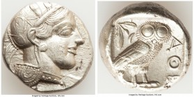 ATTICA. Athens. Ca. 440-404 BC. AR tetradrachm (24mm, 17.19 gm, 4h). Choice XF. Mid-mass coinage issue. Head of Athena right, wearing crested Attic he...