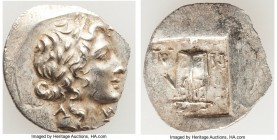 LYCIAN LEAGUE. Masicytes. Ca. 48-20 BC. AR hemidrachm (16mm, 1.52 gm, 12h). Choice AU. Series 1. Laureate head of Apollo right; Λ-Y below / M-A, citha...
