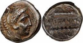 MACEDON. Kingdom of Macedon. Alexander III (the Great), 336-323 B.C. AE Unit, Uncertain mint in Macedon. NGC Encapsulated.