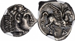 ILLYRIA, Dyrrhachion. AR Drachm (2.20 gms), ca. 275-270 B.C. NGC EF, Strike: 4/5 Surface: 4/5.
