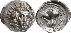 CARIA. Islands off Caria. Rhodes. AR Didrachm (6.79 gms), ca. 229-205 B.C. NGC MS, Strike: 4/5 Surface: 4/5.