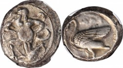 CILICIA. Mallos. AR Stater (11.26 gms), ca. 440-390 B.C. NGC Ch VF, Strike: 3/5 Surface: 4/5.