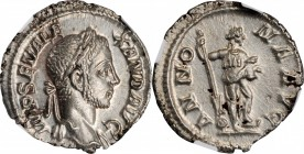 SEVERUS ALEXANDER, A.D. 222-235. AR Denarius, Rome Mint, A.D. 229. NGC MS.