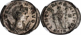SEVERINA (WIFE OF AURELIAN). BI Antoninianus (3.90 gms), Rome Mint, 1st Officina, A.D. 275. NGC MS, Strike: 5/5 Surface: 3/5. Silvering.