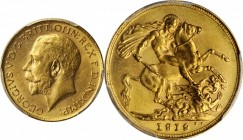 AUSTRALIA. Sovereign, 1919-S. Sydney Mint. PCGS MS-62.