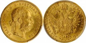 AUSTRIA. Ducat, 1901. Vienna Mint. Franz Joseph I. PCGS MS-66 Gold Shield.