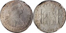 BOLIVIA. 8 Reales, 1808-PTS PJ. Potosi Mint. Charles IV. NGC AU-58.
