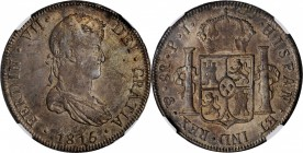 BOLIVIA. 8 Reales, 1815-PTS PJ. Potosi Mint. Ferdinand VII. NGC AU-55.