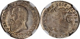 BOLIVIA. Medallic 1/2 Sol Melgarejo Proclamation, 1865. NGC MS-65.