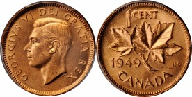 CANADA. Cent, 1949. Ottawa Mint. PCGS MS-65 Red Gold Shield.